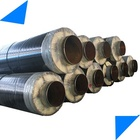 DN 900 mm superheated flexible compound rock wool material thermal insulated steam pipe