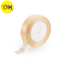 100% polyester satin ribbon double 1 inch face for apparel