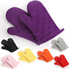 China manufactory bbq grilling glove oven mitts cotton waterproof microwave heated gloves