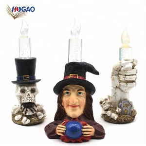 New product ideas 2018 China wholesale OEM desktop Halloween electronic led candle for indoor outdoor holiday part home decor