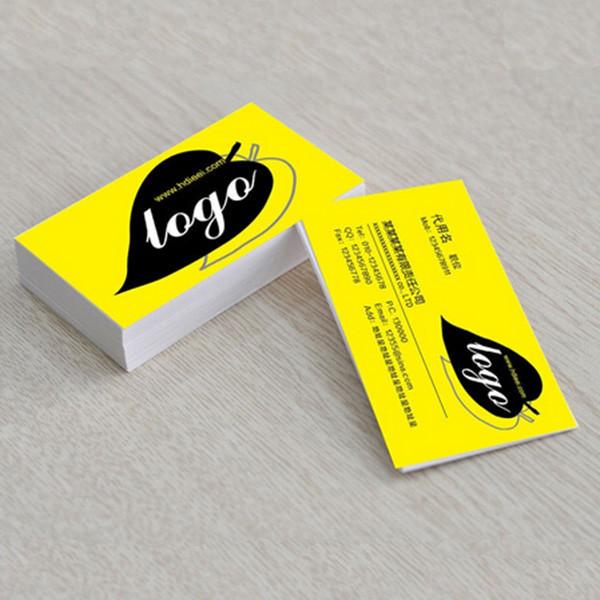 Phantasie Dicke Kraftpapier Prägen Drucken Von Visitenkarten
