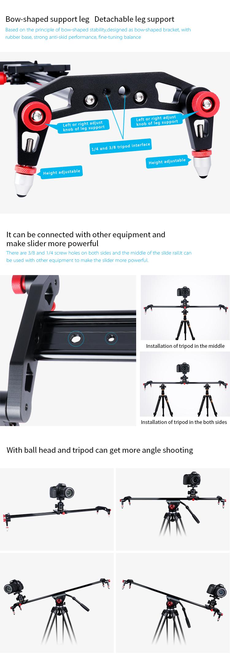YELANGU プロ写真デジタル一眼レフビデオカメラベアリングドリースライダー
