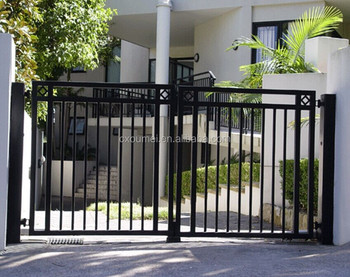 Black Aluminum Main Gate Color