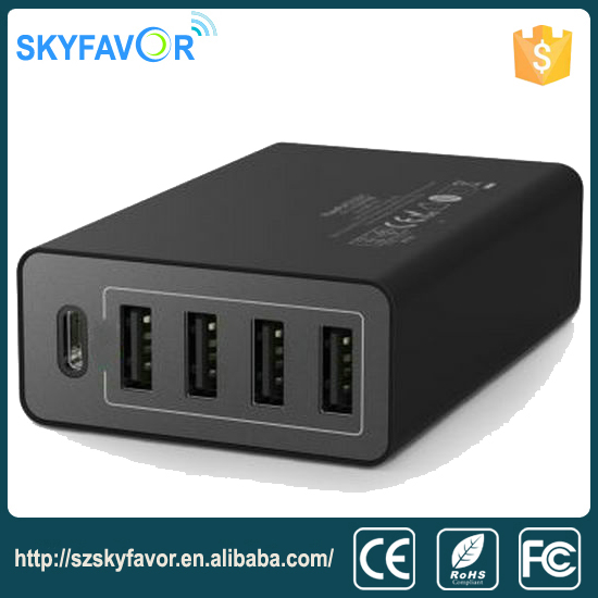 Top Quality as good as best brand 4-port usb and type-c charger for iphone ipad and Android phone