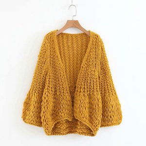 Women knitwear Autumn long sleeve hand knit sweater designs for girls