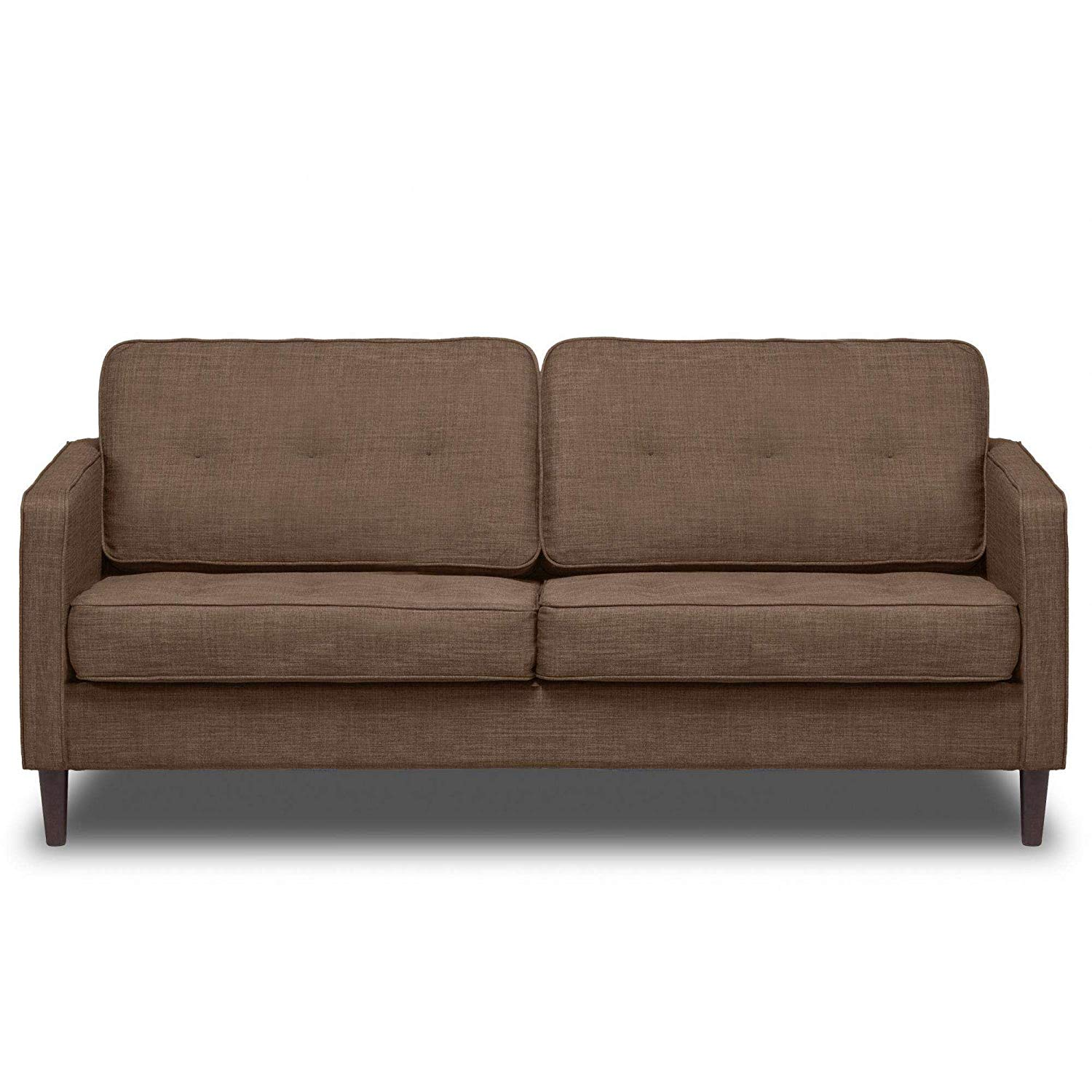 """Sandstone 66"""" Upholstered Sofa, Pocket Coil Seat Cushions, Solid Wood Legs, Hardwood Solids, Metal Seat Frame, Removable Slip Cover, Bundle with Our Expert Guide with Tips for Home Arrangement"""