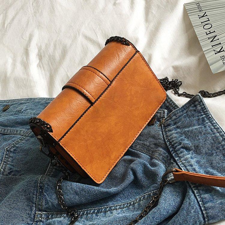 Fashion chain bag female rivet handbag all match Shoulder Messenger Bag with one single wide strap