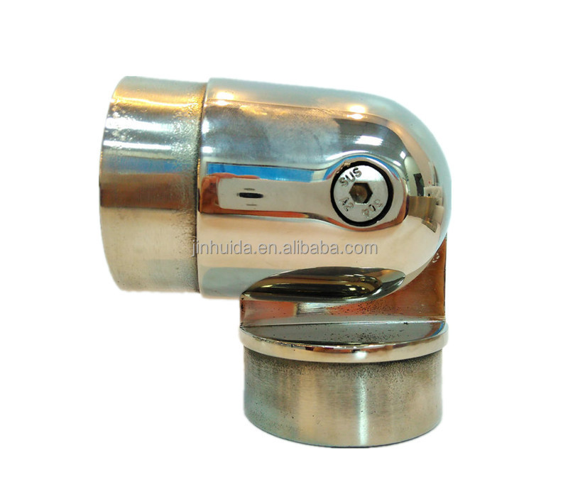 Stainless steel round tube pipe connectors mirror finished