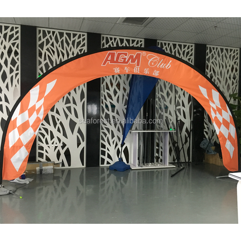 FPV racing fibreglass flag pole customized arch exhibition racing gate
