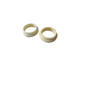Ivory ceramic material popular alumina ring customized