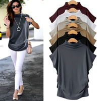Latest design fashion loose plus size XXXXXXL new shirt casual ladies blouse Korean High collar women top