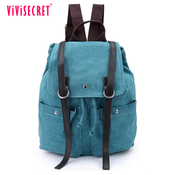 vivisecret China wholesale canvas leather backpack fashion leisure satchel  rucksack for boys 1b5629537750
