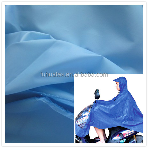 190T 100% waterproof polyester taffeta fabric with PU for rain coat