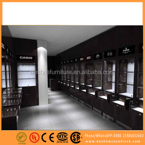 New design jewelry store display cases wooden jewellery display counter
