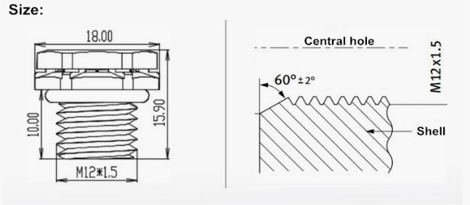Ventilation vent IP67 IP68 IP69K waterproof M12*1 5 vent plug screw-in  vents screw vents WATERPROOF VAVLE with black color