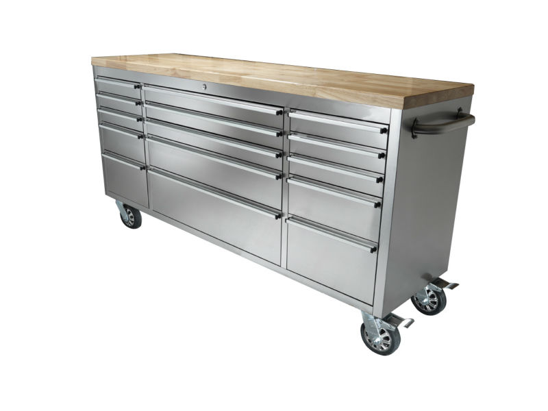 rolling tool cabinet with 15 drawer box chest storage toolbox steel garage mechanics