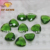Synthetic green diamond cut glass gems emerald glass gemstone