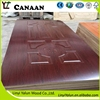 China cheap price derocative interior wood veneer HDF door skin panels