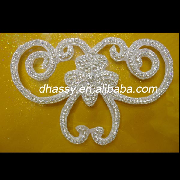 Wholesale crystal diamond rhinestone applique for Indian dress decoration
