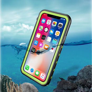 Manufacture custom IP68 cell phone covers waterproof mobile phone case for iphone X XS