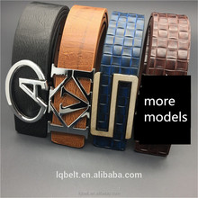 STOCK Men's smooth Plate buckle belt PU wholesale 100%Factory punch man belts for men Hot