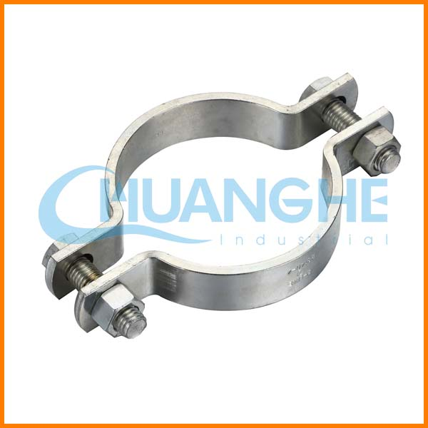 China Steel 304 Rubber Material R Type Pipe Clamp For Fix Electrical