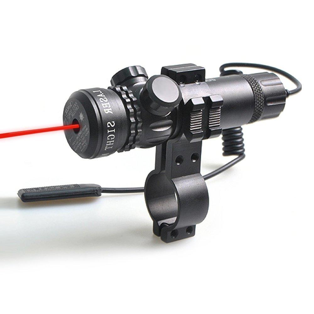Compact Tactical Adjustable Rifle/Gun Red Laser/Gun-Sights, Freehawk® Red Dot Laser Sight Outside Adjust Rifle Gun Scope 2 Switch Rail Mounts