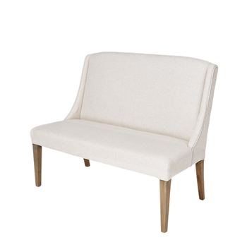 Simple Designs Luxury Velvet Two Seater Clic Wood White Sofa Chair