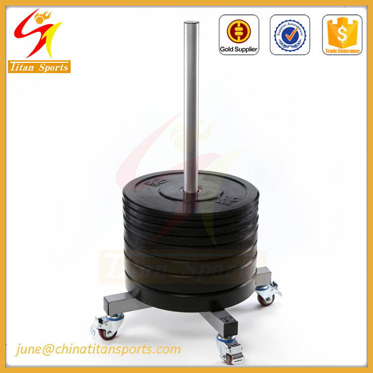 Cheap price rubber weight plate with rack