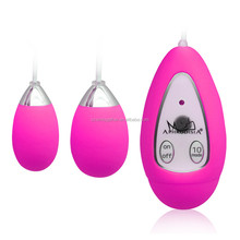 10 speed double eggs remote wireless anal eggs vibrator for women