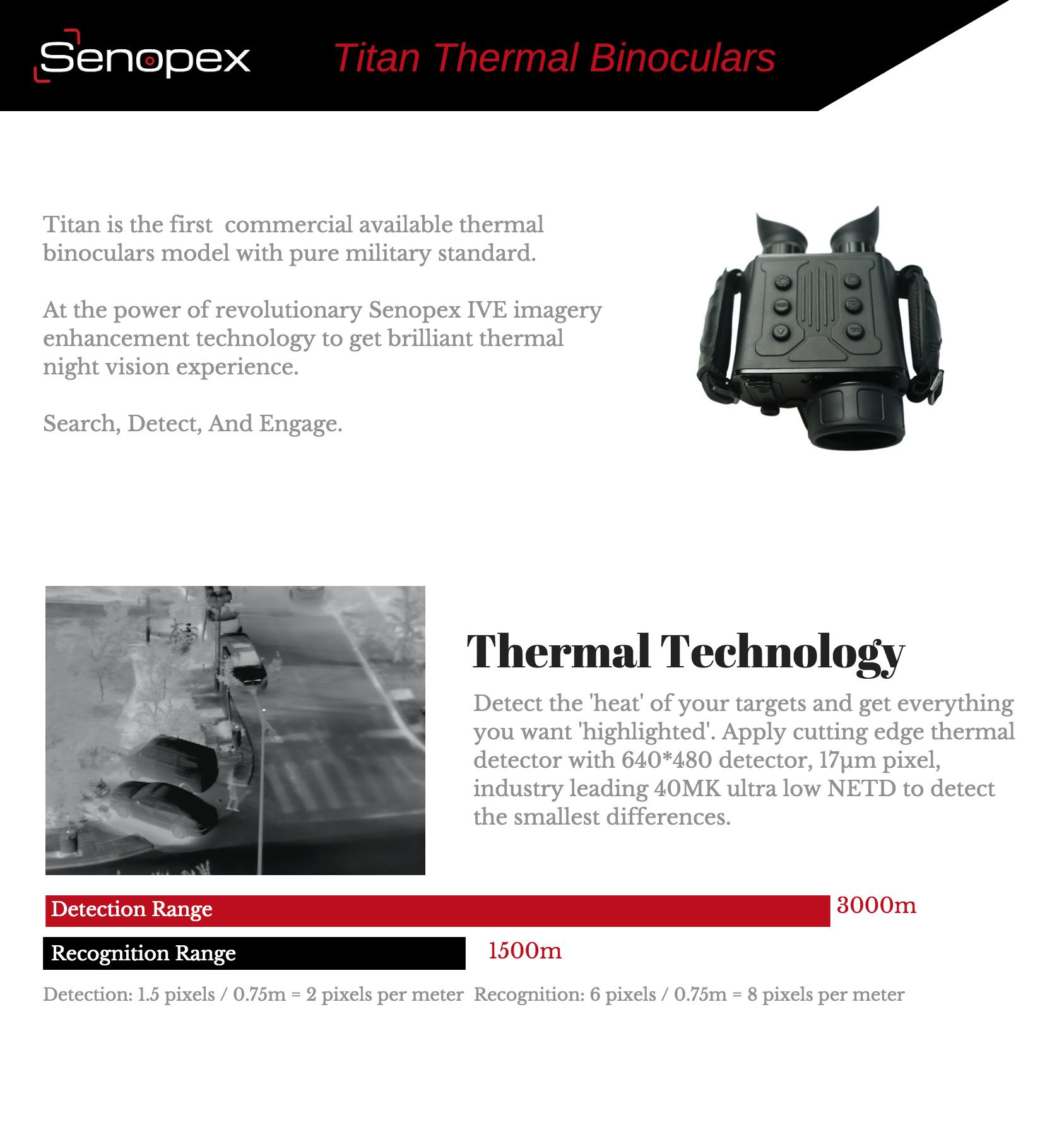Best Hunting Thermal Night Vision Binoculars With 4000m Detection Range