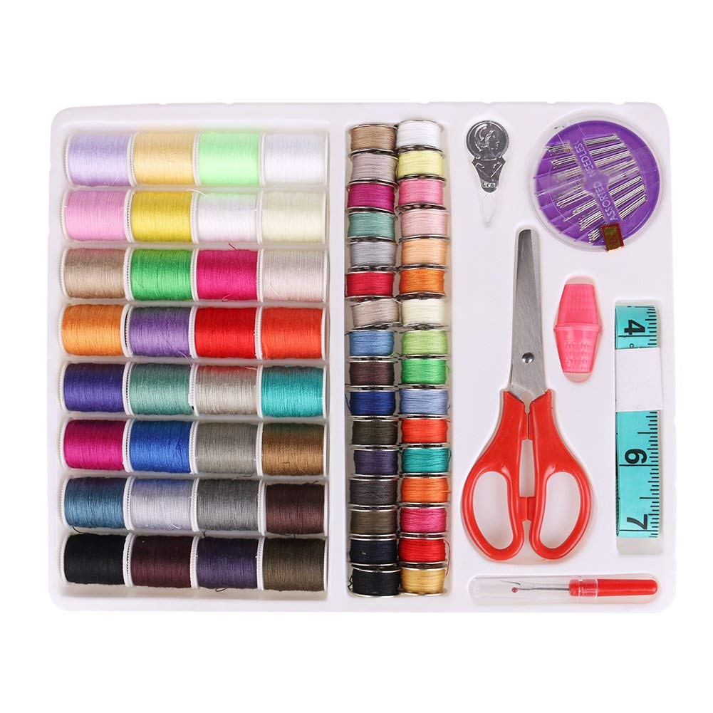 64 PCS Portable Sewing Kit Home Travel Emergency Professional Sewing Set