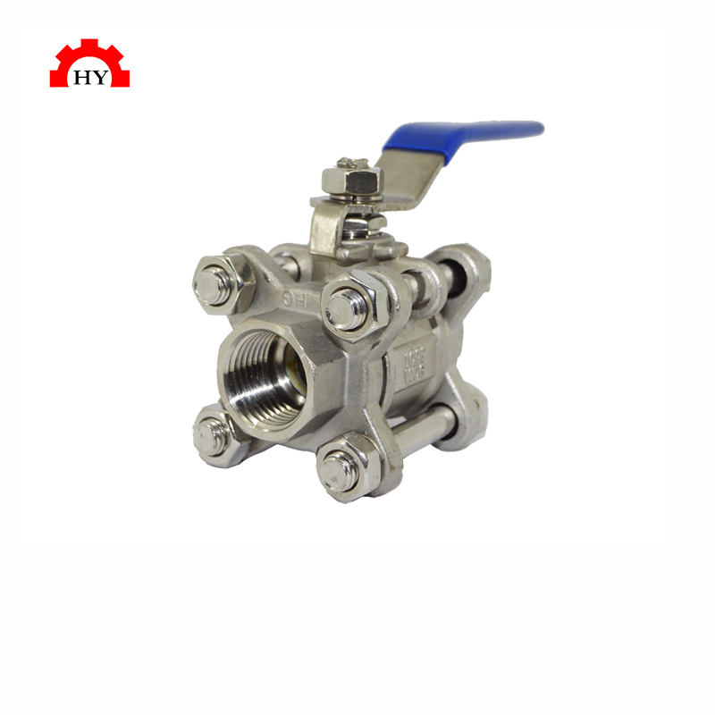 SS304 3PC 3pc stainless steel female thread ball valve