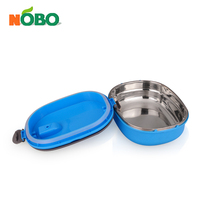 Multi layers colored rectangle stainless steel lunch box tiffin box