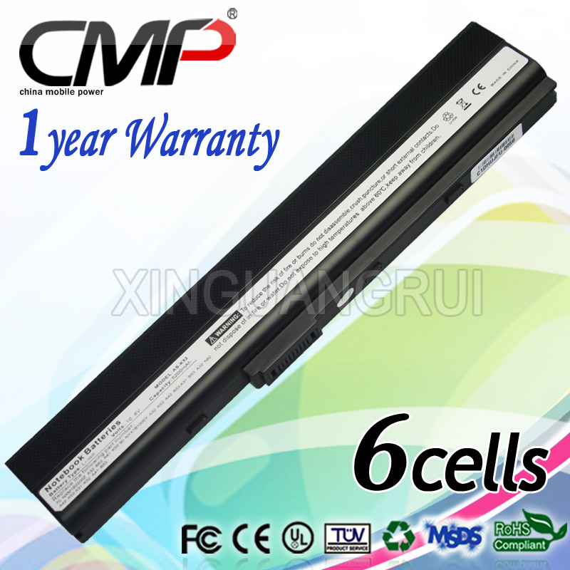 CMP compatible notebook battery For ASUS A52 A62 B53 K42 X52 K52 A32-K52 A32-N82 A42-N82