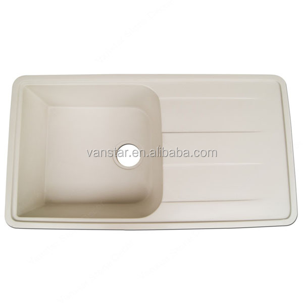 Ivory Color Resin Gel Coat Kitchen Sinks