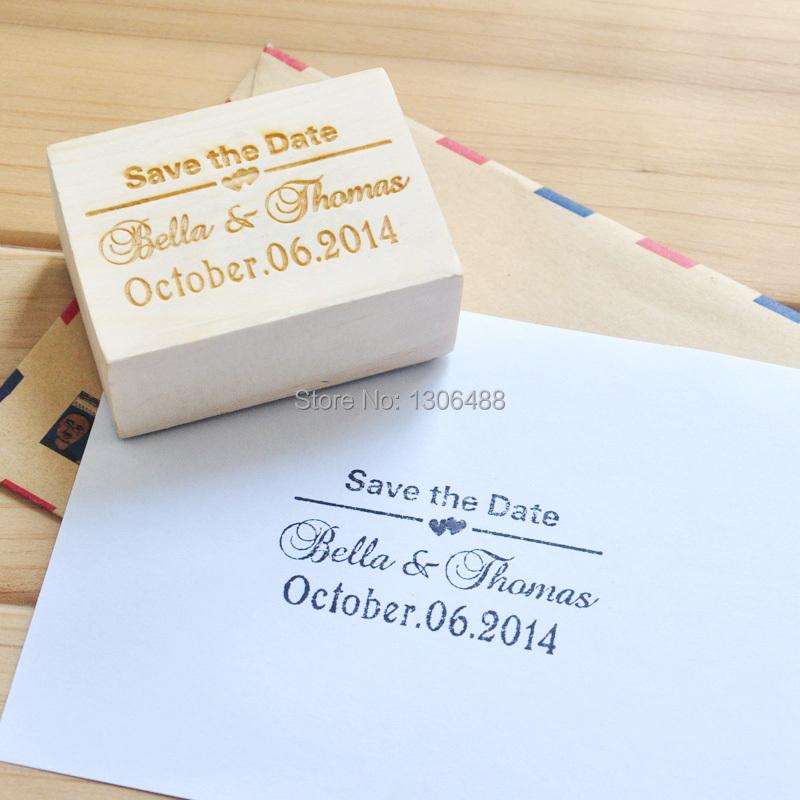 Personalized Wedding Stamp, Wood Stamp Wedding Invitation