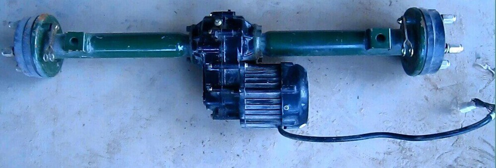 rear axle differential box motor