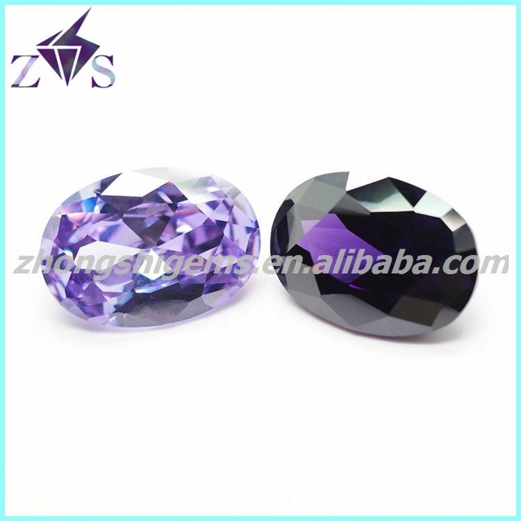 Synthetic oval cubic zirconia price of a garnet stone