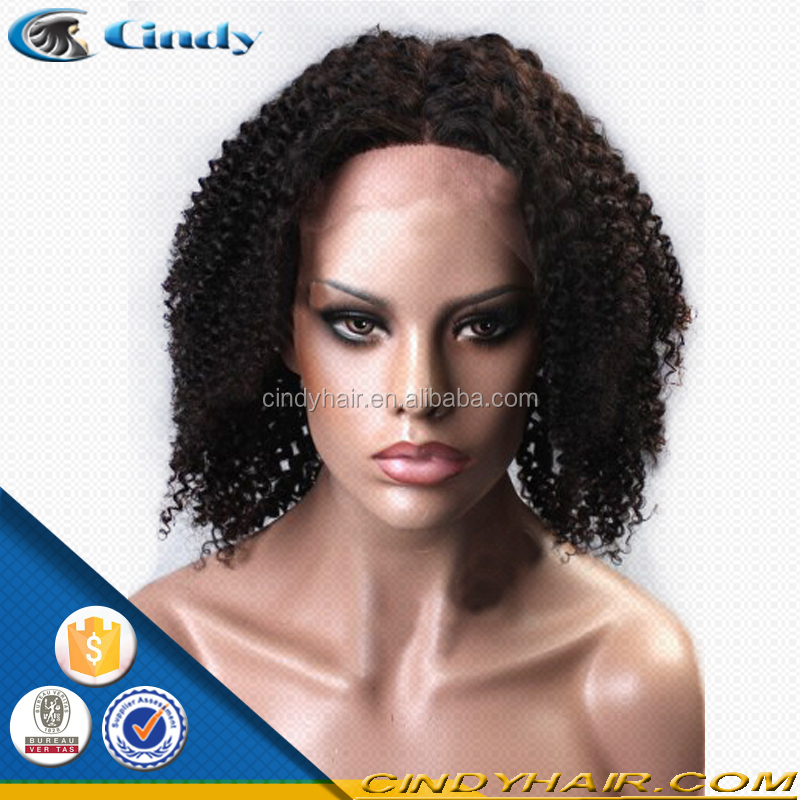 Cheaper half hand tied front lace wigs for black women