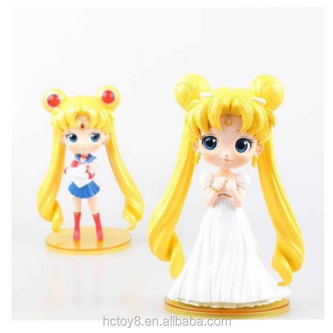 Gzltf PVC 15cm Sailor Moon 2 Styles Can Choose Big Eyes And With Wedding Dress Action Figure
