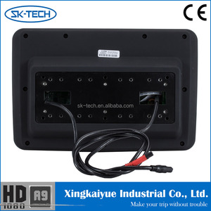 "Guangzhou SK-Tech 9"" andorid automobile headrest dvd player support wifi 3g dongle bluetooth 1280*800 resolution"