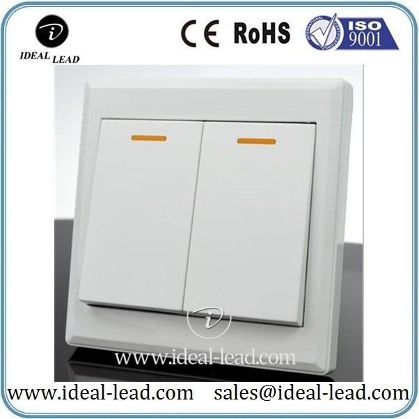 2 switch single control wall power switch socket