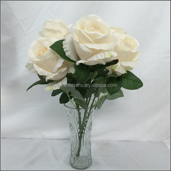 5 branches bunch rose flower artificial white color buy white rose 5 branches bunch rose flower artificial white color mightylinksfo