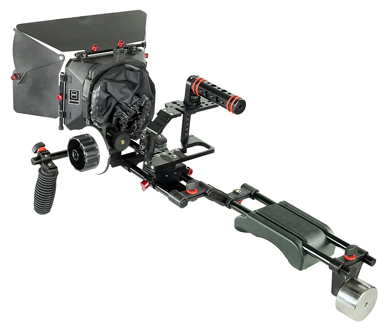 Filmcity Shoulder support rig kit (FC-BMPC-KIT) V-remote control for Blackmagic Pocket Cinema Camera BMPC with Mattebox Follow Focus Cage V-Remote Control