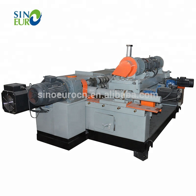 Fineer peeling machine log rotary cutting draaibank/spindleless hout fineer peeling machine