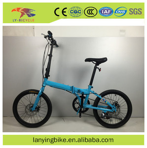 20 inch 6 gear carbon steel china cheap folding bike with carry bag