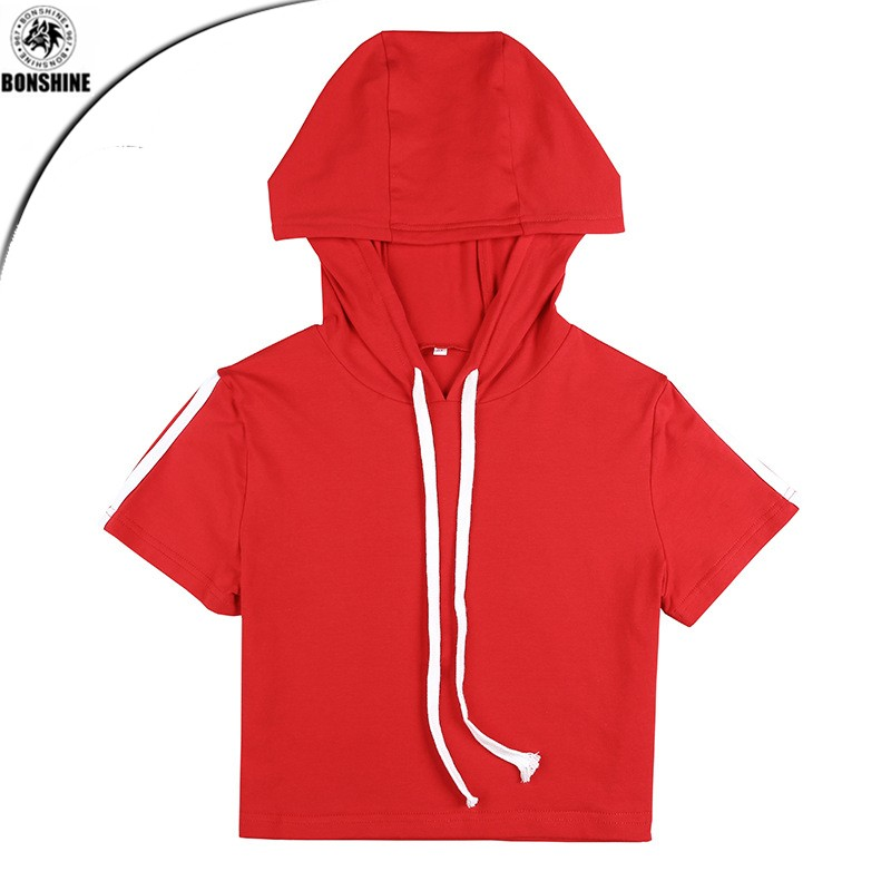 2017 new cotton hooded umbilical banded sports leisure suits Guangzhou
