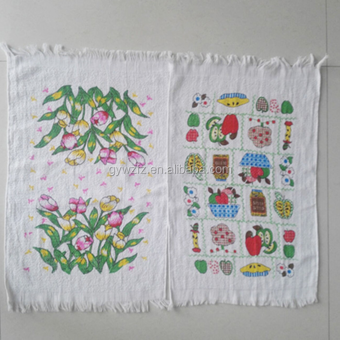 Printed Carrefour Walmart Kitchen Towels Set Wholesale