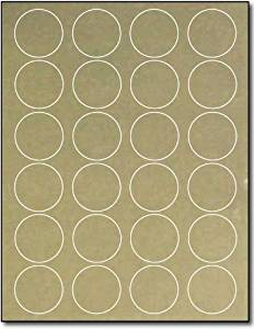"1 2/3"" Round Gold Foil Labels for Laser Printers - 10 Sheets / 240 Labels"